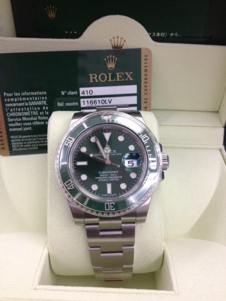 ロレックス(ROLEX)116610LVグリーンサブ売るなら、高価買取の当店へ!