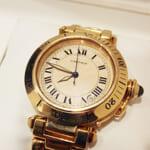 カルティエの腕時計、パシャダイバー(K18無垢モデル)買取事例@銀座店