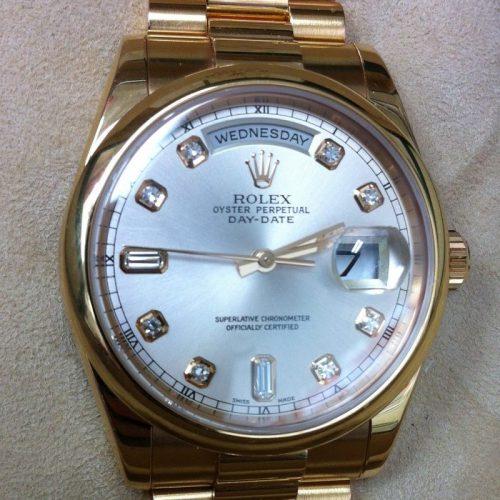 ロレックス 腕時計 デイデイト 118205A ピンクゴールド無垢