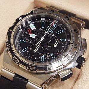 ブルガリ 腕時計 ディアゴノ プロフェッショナル DP45B STV CH/GMT