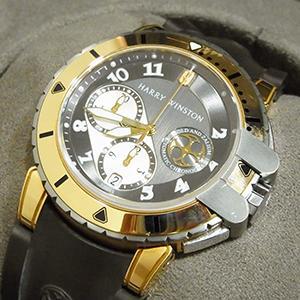 ハリーウィンストン 腕時計 オーシャンダイバー クロノグラフ 411/MCA44ZC.W