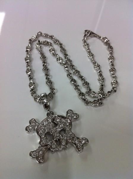 スカル ネックレス アクセサリー 高価買取 ダイヤモンド K18WG