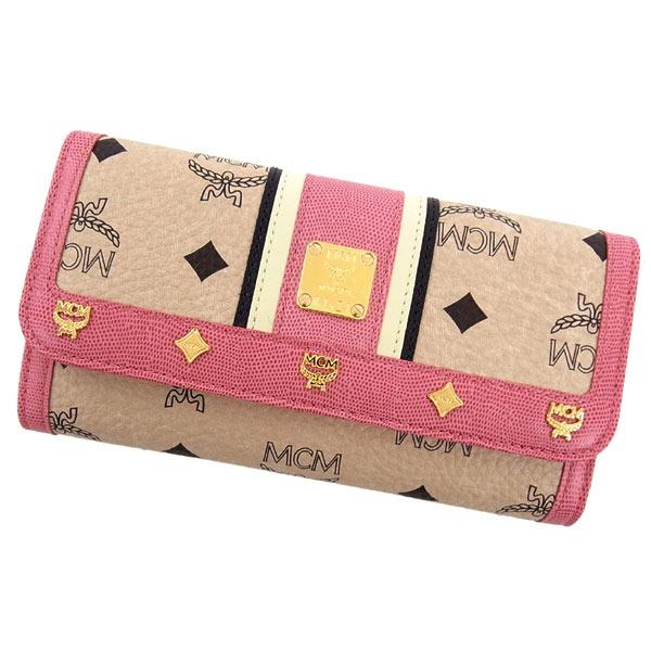 MCMシンボル長財布(三つ折り)