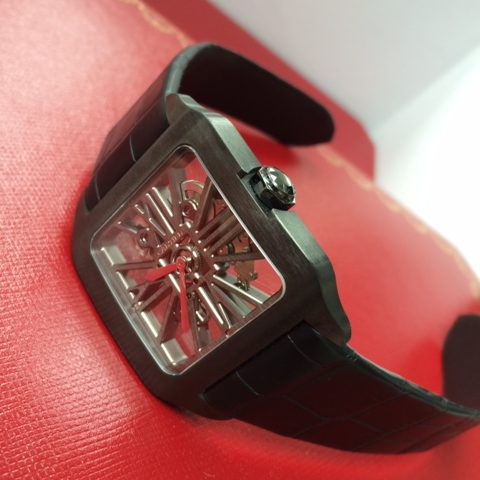 カルティエ 腕時計 サントス デュモン カーボン スケルトン W2020052
