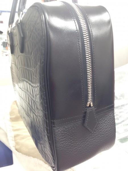 エルメス ハンドバッグ 高価買取 プリュム32 ブラック アリゲーターマット