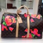 ルイ・ヴィトンのボストンバッグ、キーポル50(モノグラムローズ)買取事例@心斎橋店