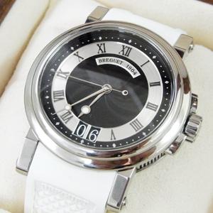 ブレゲ 腕時計 マリーン SS×ホワイトラバーストラップ