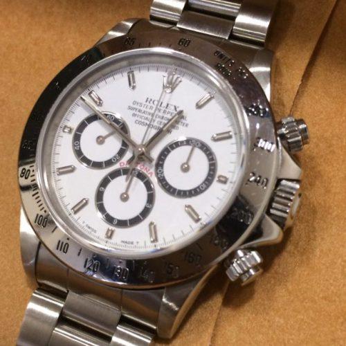 ロレックス 腕時計 デイトナ 白文字盤 逆6