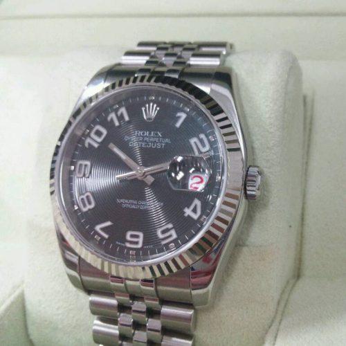 ロレックス 腕時計 デイトジャスト ブラックコンセントリック