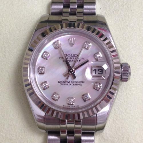 ロレックス 腕時計 デイトジャスト ピンクシェル文字盤