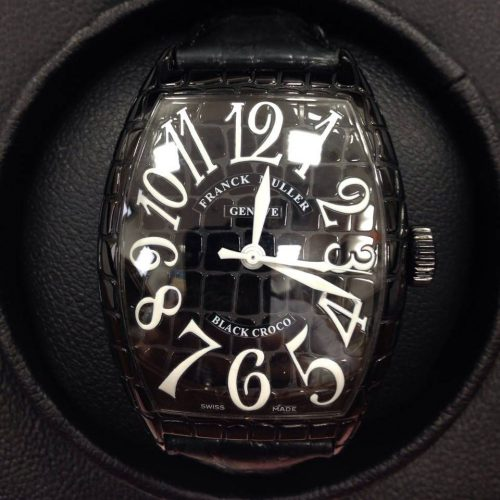 フランクミュラー 腕時計 トノーカーベックス ブラック クロコ