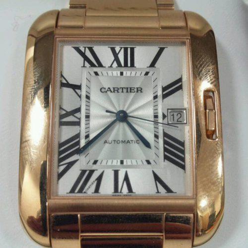 カルティエ タンクアングレース K18YGの買取事例 ~世界で初めて腕時計を創ったブランド~