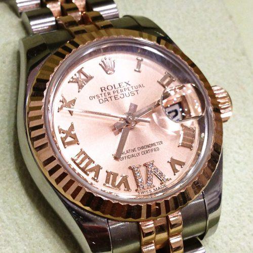 ロレックス 腕時計 レディースデイトジャスト ピンク