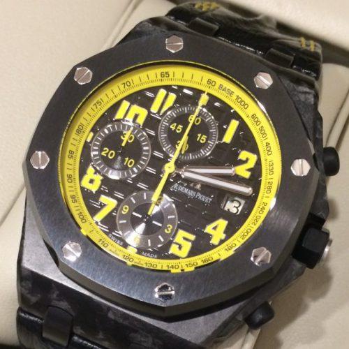 オーデマピゲ ロイヤルオークオフショアの買取事例 ~丸花蜂をイメージさせる時計、通称バンブルビー~