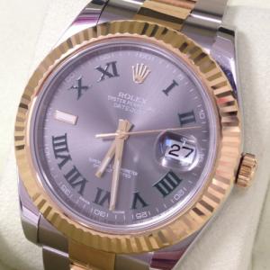ロレックス 腕時計 デイトジャストⅡ グリーンローマン