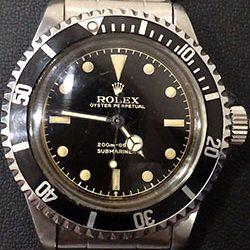 ロレックス サブマリーナ ノンデイトRef.5512の買取事例 ~希少な初期モデルです~