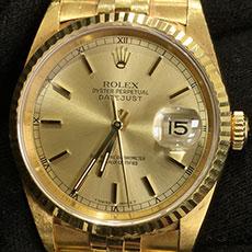 ロレックス 時計 デイトジャスト 16238 ドレスウォッチ ジュビリーウォッチ イエローゴールド 高価買取