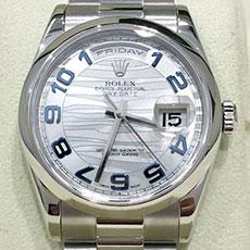 ロレックス 時計 デイデイト アイスブルー 人気 高価買取