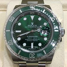 ロレックス 時計 サブマリーナ グリーン 116610LV ダイバーズウォッチ 人気モデル 高額査定