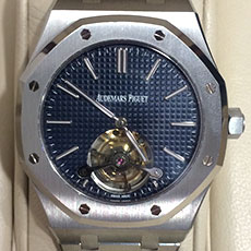 オーデマピゲ 時計 ロイヤルオーク エクストラシン トゥールビヨン 希少モデル 高価買取