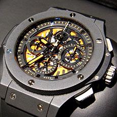 ウブロ 時計 ビッグバン アエロバン オールブラック オレンジ 人気モデル 高価買取