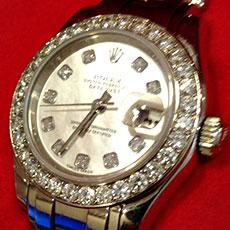 ロレックス 時計 デイトジャスト レディース パールマスター ダイヤ 希少モデル 高価買取