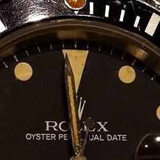 ロレックス 時計 サブマリーナ アンティーク インデックス 縁 フチなし