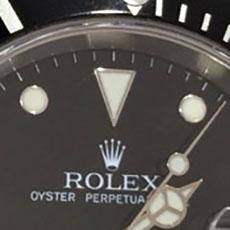 ロレックス 時計 サブマリーナ インデックス 縁 フチあり