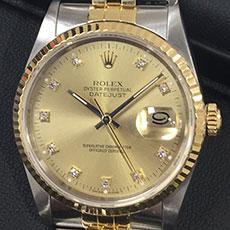 ロレックス 時計 デイトジャスト ドレスウォッチ バブル時代 人気 ダイヤ 高価買取