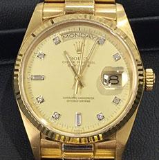 ロレックス 時計 デイデイト 金無垢 バブル 人気 プレジデントブレス 上級機種 高額査定