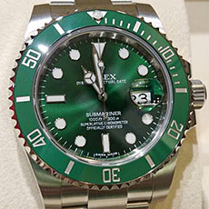 ロレックス 時計 サブマリーナ デイト 緑サブ グリーンサブ 人気モデル 高額査定