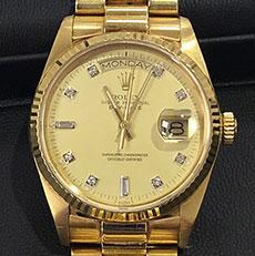 ロレックス 時計 デイデイト 18038A 金無垢 ハイモデル 高額査定