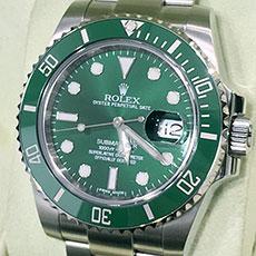 ロレックス 時計 サブマリーナ グリーン Ref.116610LV 人気モデル 買取強化