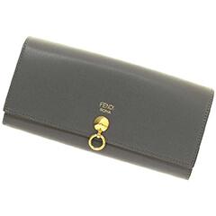 ドットコム 二つ折り長財布 グレー カーフ 8M0251-SME-F117K