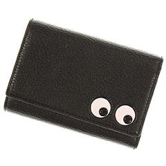 アイズ トライフォールド 折財布 黒 レザー
