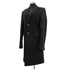 チェスターコート ブラック ウール #44