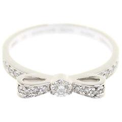 リュバンドゥ リボン リング K18WG ダイヤモンド #53 J3412 3.0g