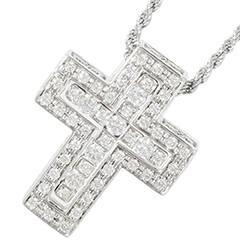 ベルエポック ネックレス クロス ダイヤモンド K18WG 20064866