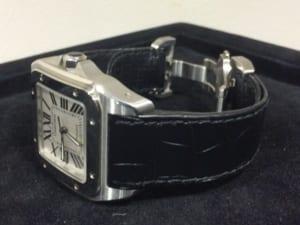 カルティエの腕時計 サントス100の買取状態をご紹介いたします