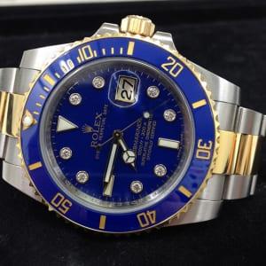 ロレックス サブマリーナ デイト コンビ 青 腕時計高価買取