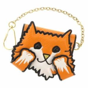 可愛らしい猫モチーフのカードケース、チェーン付きでパスケースにも使えます。バッグに取り付けてみても良し!
