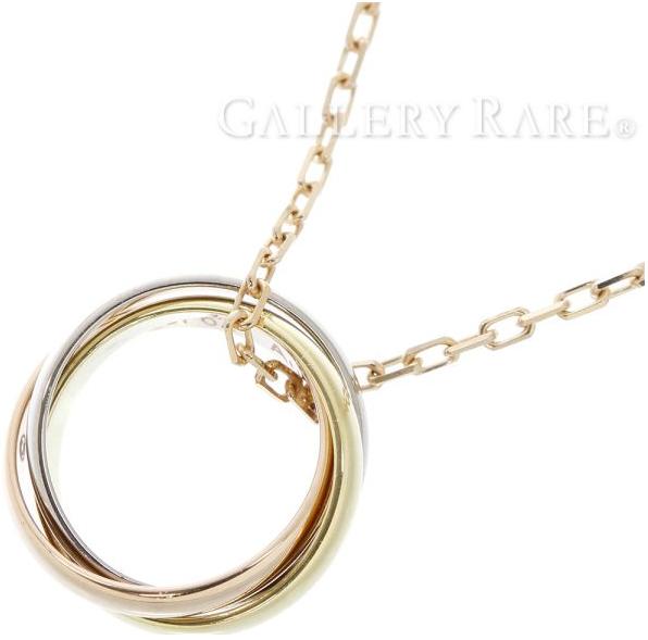 カルティエ(Cartier)のスリーゴールドネックレス、トリニティドゥカルティエ