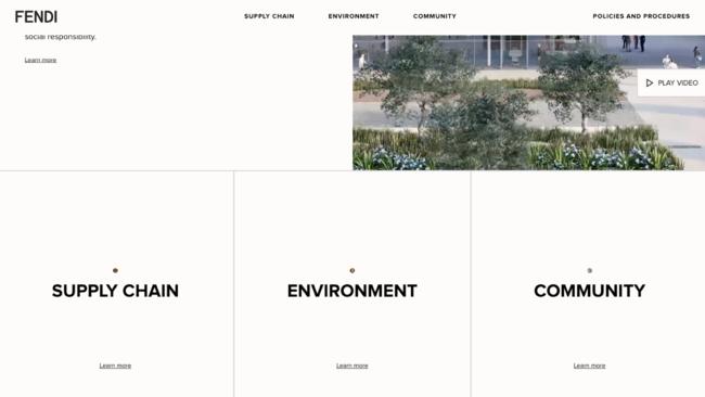 「フェンディ」環境の持続性と社会的責任に特化した取り組みについて発信