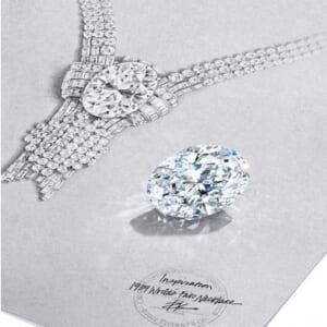 80カラット超のダイヤモンドがセットされたネックレス