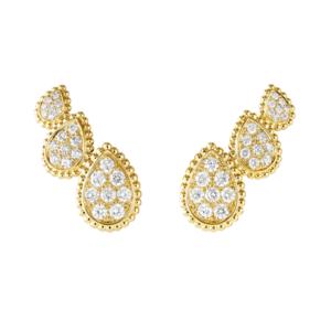 「SERPENT BOHÈME DIAMONDS セルパンボエム 3モチーフ スタッズイヤリング」 YG ダイヤモンド
