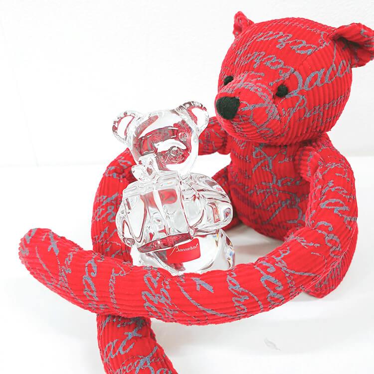 【限定品】可愛いバカラ(Baccarat)の赤いユーロベア!