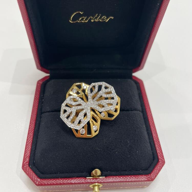 カレスドルキデ ダイヤリング52 イエローゴールド/ホワイトゴールド