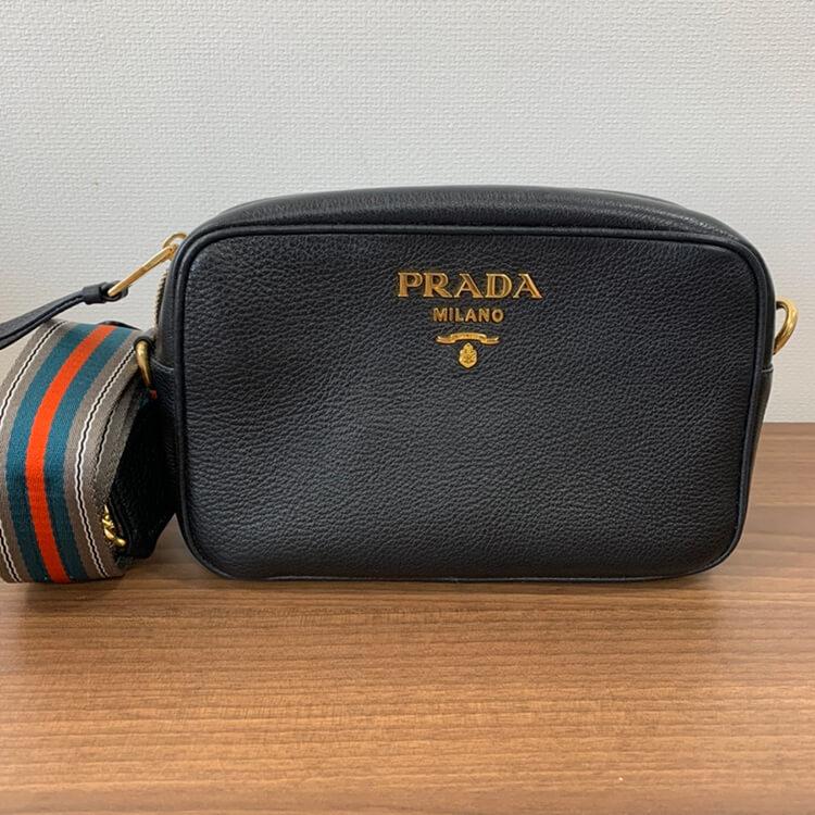 プラダ 2wayショルダーバッグ 黒 レザー 1BH093