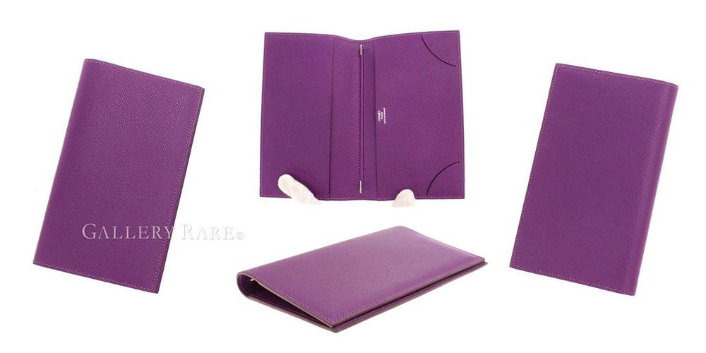 シンプルなデザインのエルメスの手帳