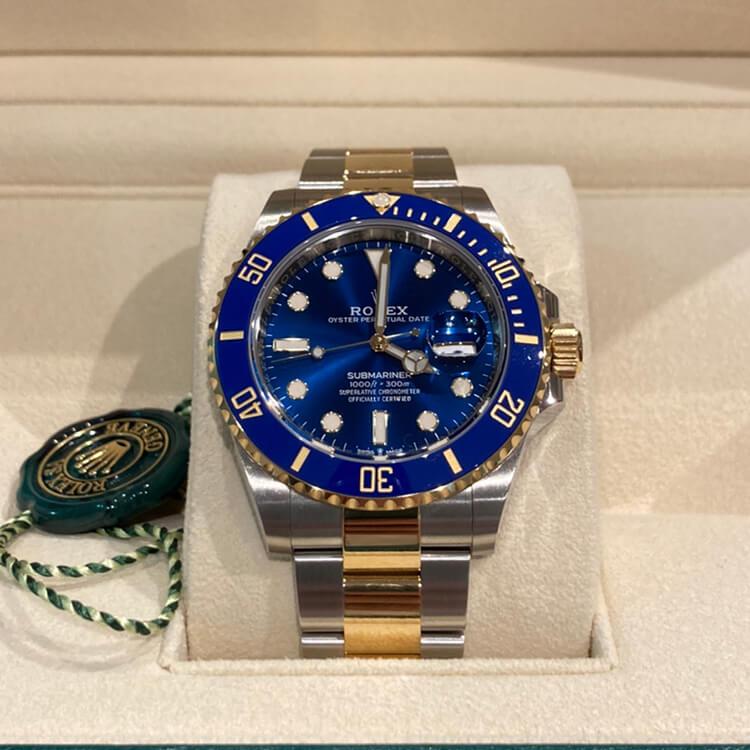 サブマリーナデイト ブルー SS/K18YG 126613LB ランダム